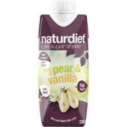 Naturdiet Shake pear/vanil - 330 ml