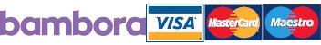 Kortbetalningsalternativ via Bambora. VISA, MasterCard samt Maestro