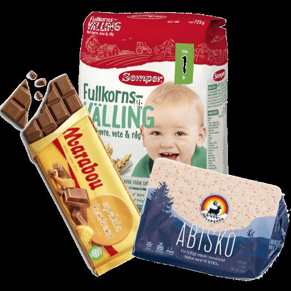 Marabou chokladkaka, Semper välling och Polarbröd
