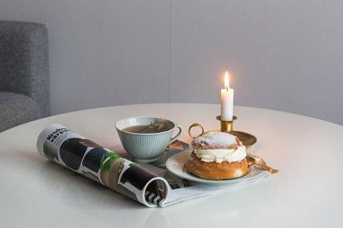 Semla och kaffe